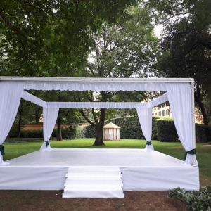"Marquee with stage for Indian Wedding in Four Season • <a style=""font-size:0.8em;"" href=""http://www.flickr.com/photos/98039861@N02/43332951015/"" target=""_blank"">View on Flickr</a>"