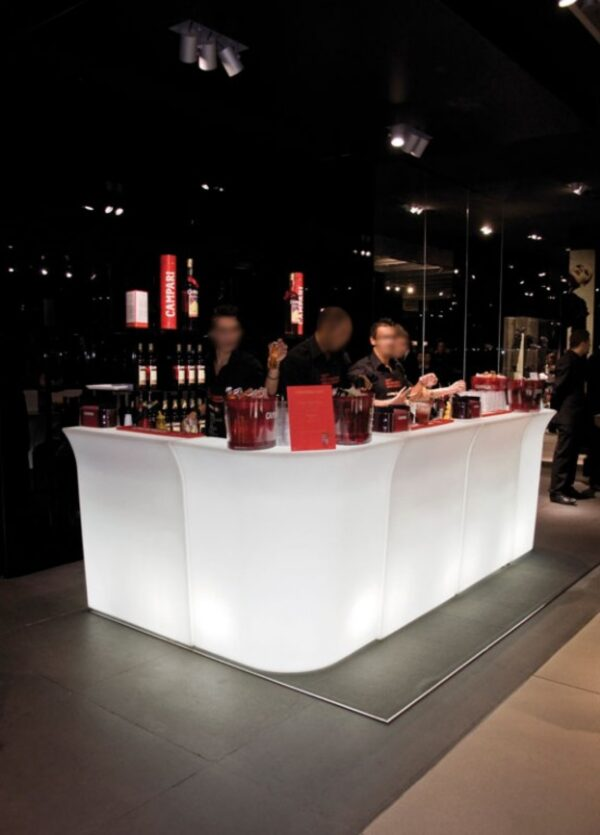 Banco luminoso Jumbo Bar 80x90 cm. LINEARE